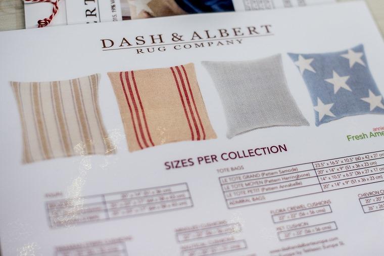 LES TISSUS COLBERT Dash & Albert, Teppich abeaschbar, Teppich Polyester_740